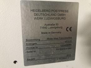 Heidelberg Stahlfolder TH 82/442+Z
